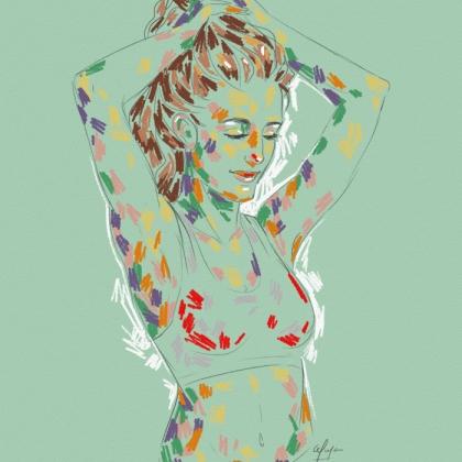 Rainbow Girl 4 by Tina Mailhot-Roberge (vervex)