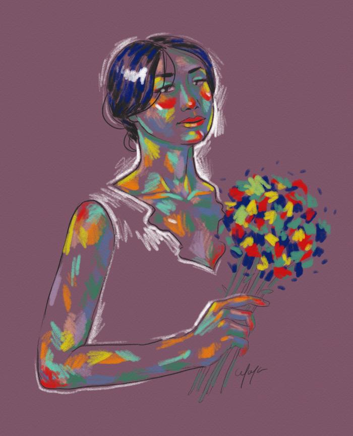Rainbow Girl 7 by Tina Mailhot-Roberge (vervex)