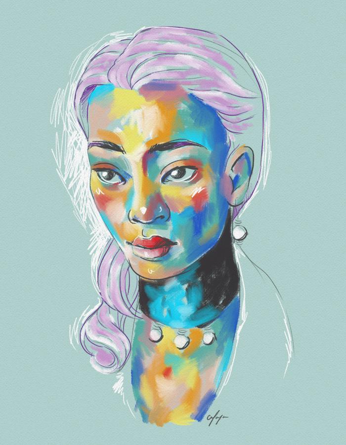 Rainbow Girl 8 by Tina Mailhot-Roberge (vervex)