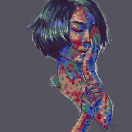 Rainbow Girl 12 by Tina Mailhot-Roberge (vervex)