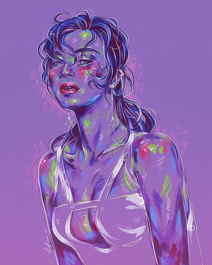 Rainbow Girl 84 by Tina Mailhot-Roberge (vervex)