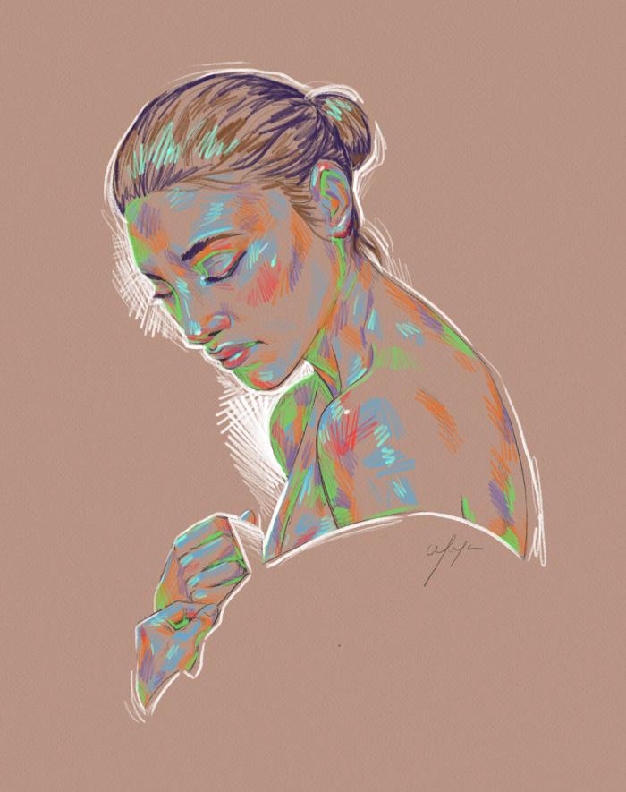 Rainbow Girl 20 by Tina Mailhot-Roberge (vervex)