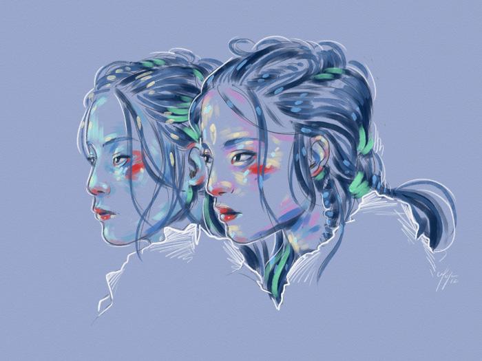 Rainbow Girl 32 by Tina Mailhot-Roberge (vervex)