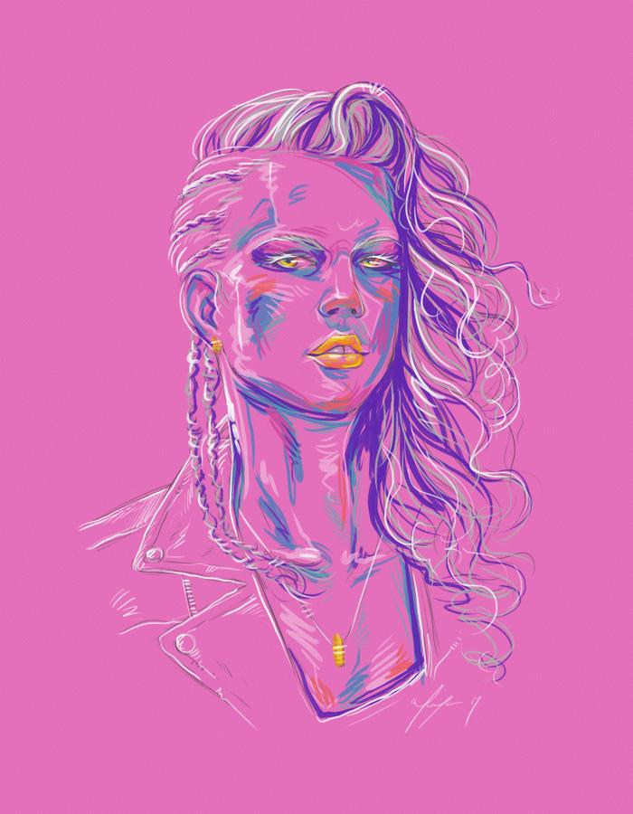 Rainbow Girl 42 by Tina Mailhot-Roberge (vervex)