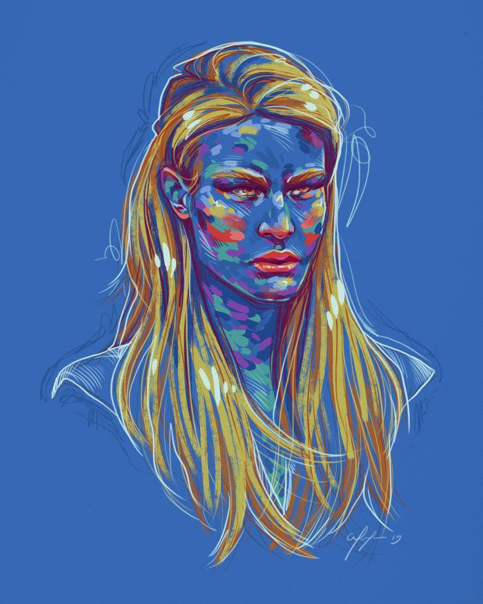 Rainbow Girl 71 by Tina Mailhot-Roberge (vervex)