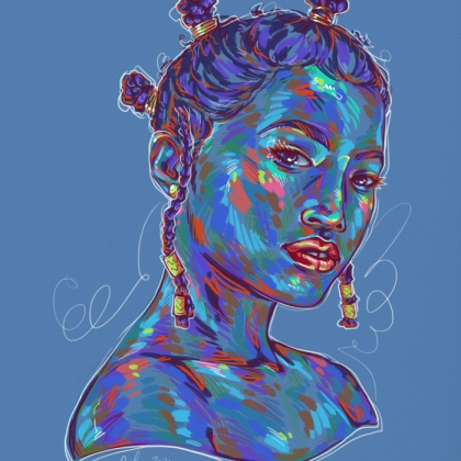Rainbow Girl 74 by Tina Mailhot-Roberge (vervex)