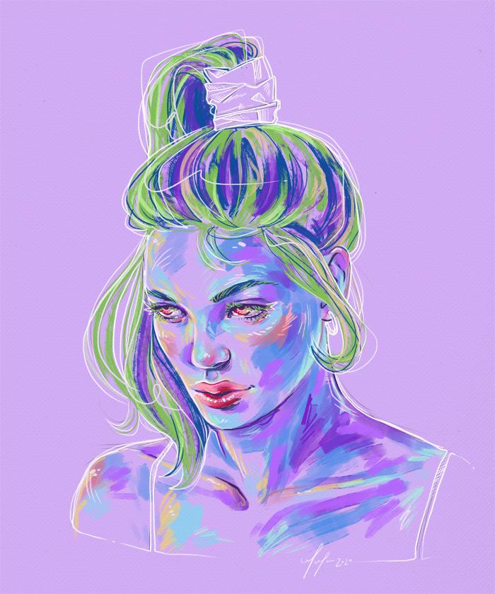 Rainbow Girl 75 by Tina Mailhot-Roberge (vervex)