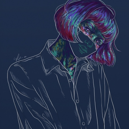 Rainbow Girl 77 by Tina Mailhot-Roberge (vervex)