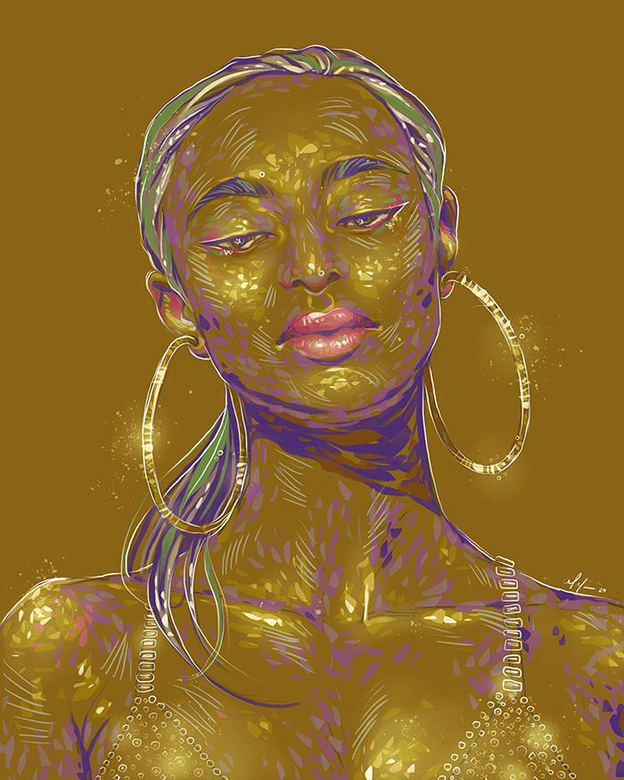 Rainbow Girl 85 by Tina Mailhot-Roberge (vervex)
