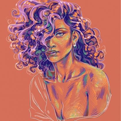 Rainbow Girl 90 by Tina Mailhot-Roberge