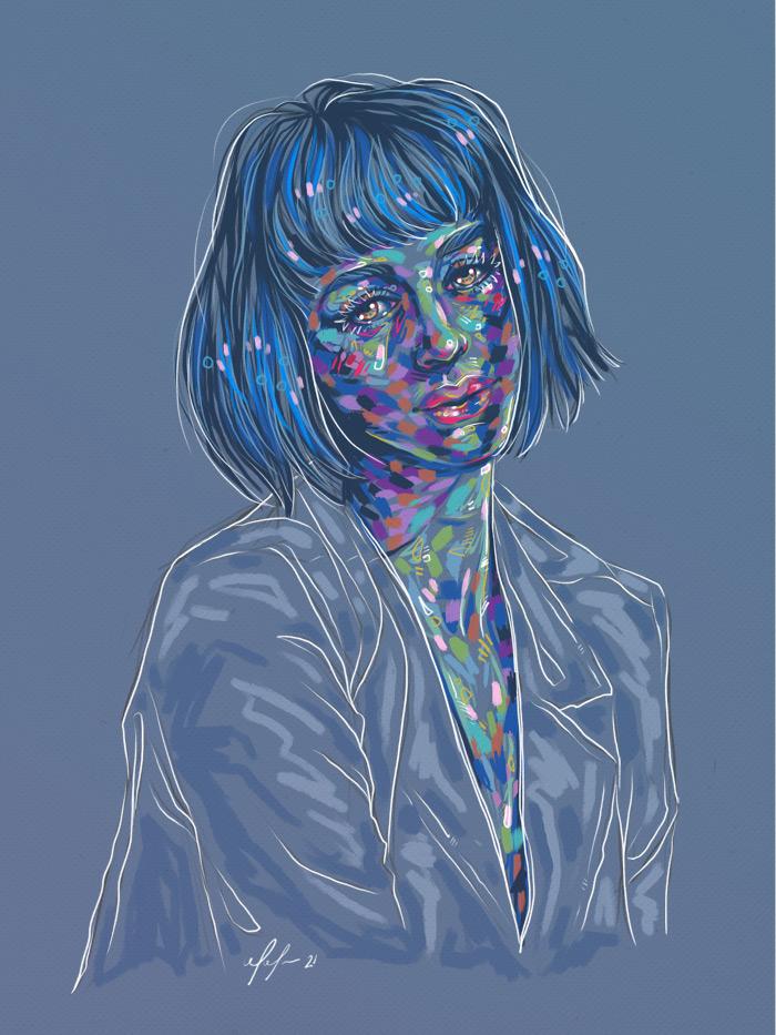 Rainbow Girl 92 by Tina Mailhot-Roberge